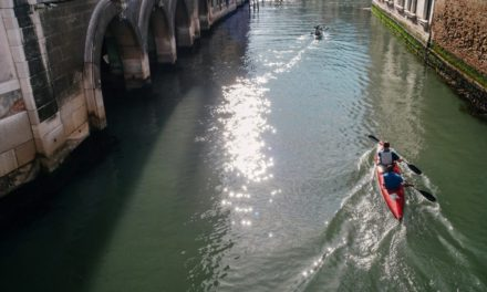 Venice from the kayak: rare emotions