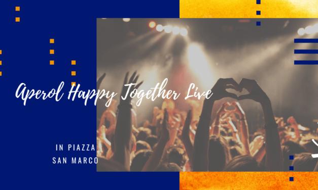 Aperol compie 100 anni: l'Aperol Happy Together Live a Piazza San Marco
