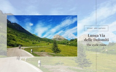 The cycle path of the Lunga Via delle Dolomiti